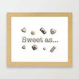 Sweet as Framed Art Print
