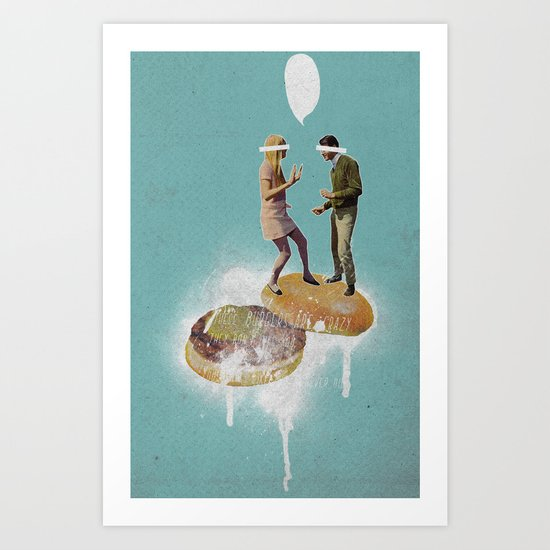 Danse Sale | Collage Art Print