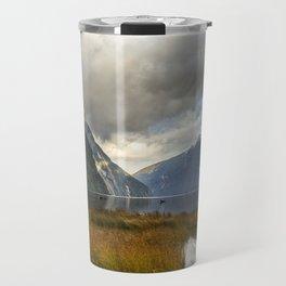 Mitre Peak, Milford Sound, New Zealand Travel Mug