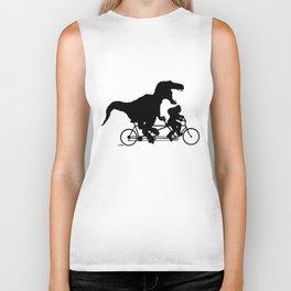 Gone Squatchin cycling with T-rex Biker Tank