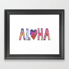 ALOHA - Style A Framed Art Print