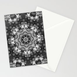Black and white Persian carpet 2 Stationery Cards