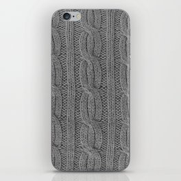 Grey Soft Wool iPhone Skin