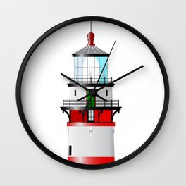 The Top Of The Lighthouse Wall Clock