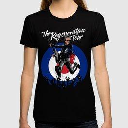 Regeneration Tour: 12 Doctor Who T-shirt