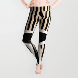 The Greatest Star! Black and Cream Leggings