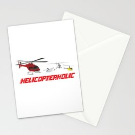 Professional Helicopter Pilot Stationery Cards