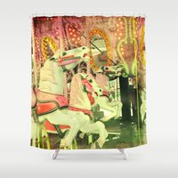 carousel Shower Curtains featuring Carousel by elle moss