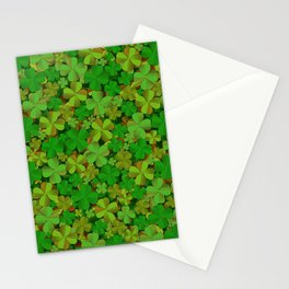 Lucky Clovers Stationery Cards