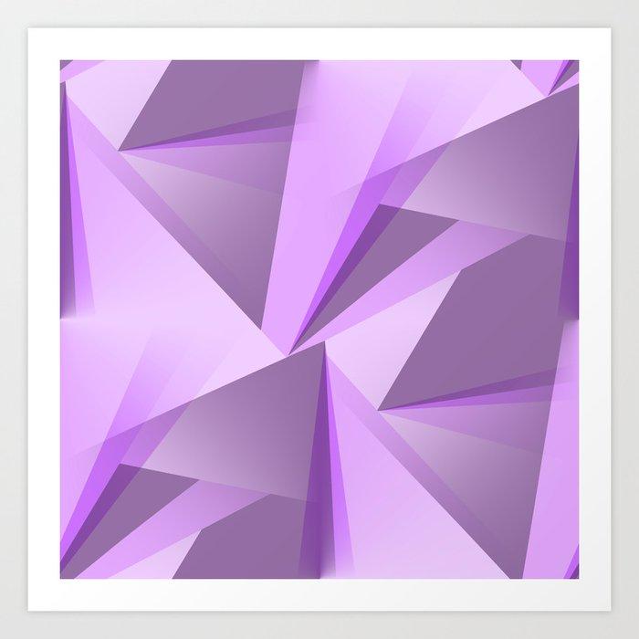 Meditation - Purple Abstract Kunstdrucke