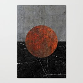 Abstract - Marble, Concrete, and Rusted Iron II Canvas Print