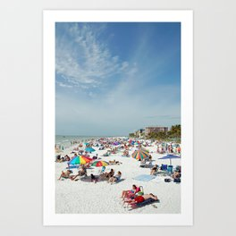 Beachgoers At Fort Myers Art Print