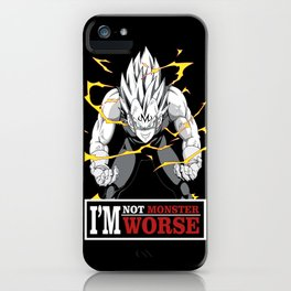 vegeta monster iPhone Case