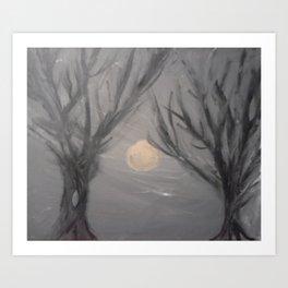 Creepy Little Trees Art Print