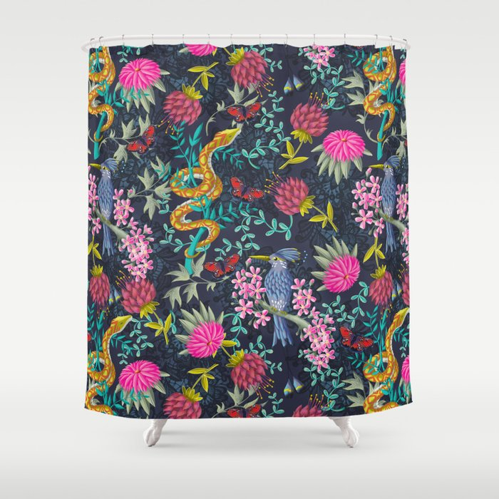 Life Exotic Shower Curtain by ruthburrows | Society6