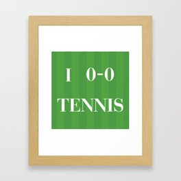 I heart Tennis Framed Art Print