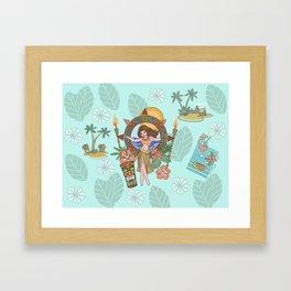 Island delight Framed Art Print