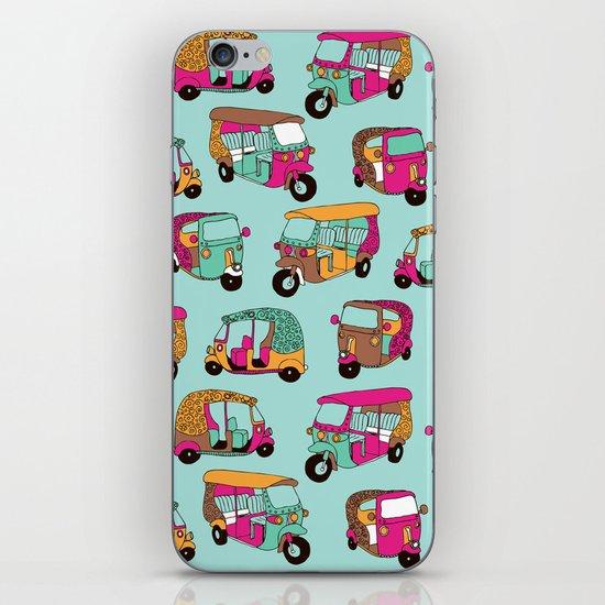 India rickshaw illustration pattern iPhone & iPod Skin