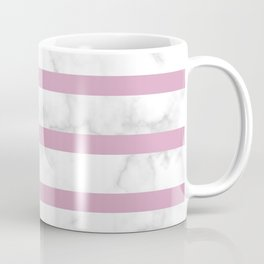 marble horizontal stripe pattern baby pink Coffee Mug
