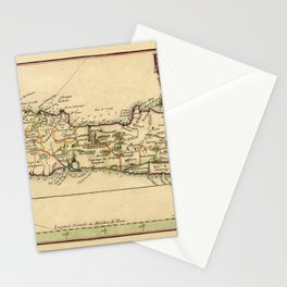 Map Of Java 1764 Stationery Cards