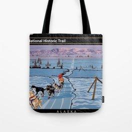 Vintage Poster - Iditarod National Historic Trail, Alaska (2018) Tote Bag