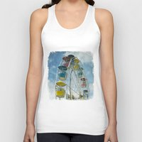 ferris wheel Tank Tops featuring Ferris Wheel by Mary Kilbreath
