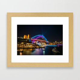 Bridging the gap: from the past and into the future Framed Art Print