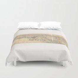 Vintage 1915 Los Angeles Area Map Duvet Cover