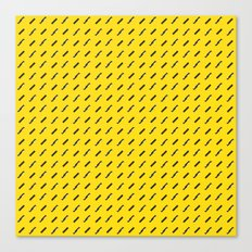 Black, white and yellow pattern Canvas Print