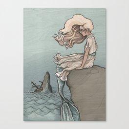 Evolution of a Mermaid Canvas Print