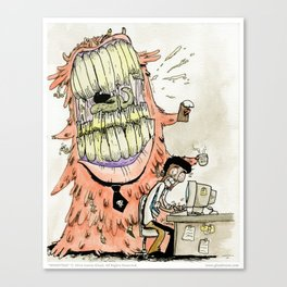 Monsters - 02 The Bossy Blob Canvas Print
