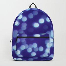 Dark Blue Polygon Shapes Bokeh Backpack