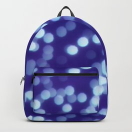 Dark Blue Polygon Shapes Bokeh Backpack