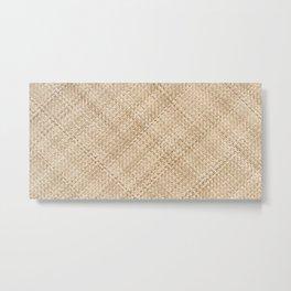 Basket Weaving Metal Print