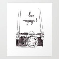 Bon Voyage - Leaving card / Travel / Around the world Art Print