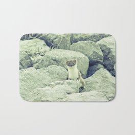 Stoat be Alarmed Bath Mat