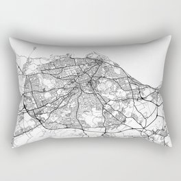 Edinburgh Map White Rectangular Pillow
