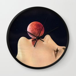 first kiss (to the moon) Wall Clock
