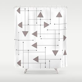 Lines & Arrows Shower Curtain