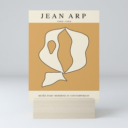 Modern poster - Jean Hans Arp - Exposition 3. Mini Art Print
