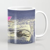 surfing Mugs featuring SURFING by aztosaha
