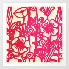 electric flower Art Print