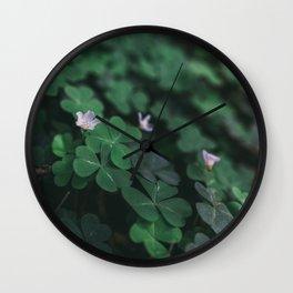 Clover Flower Wall Clock