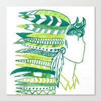 peter pan Canvas Prints featuring Peter Pan by Owl Feather Studio