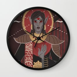 The Tribe Unmourned - 5 of Swords Wall Clock