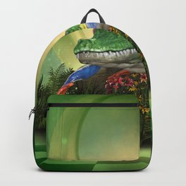 Awesome funny crocodilefrog Backpack