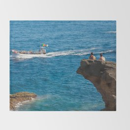 People on an islet Throw Blanket