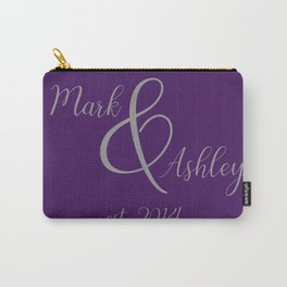 Plum and Grey Carry-All Pouch