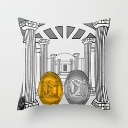 Necropolis Coins Gold and Silver 1 Throw Pillow