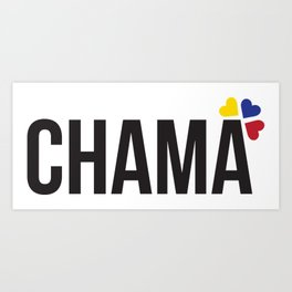 Chama lettering design Art Print